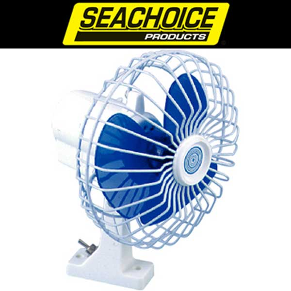 Seachoice 6in Oscillating 12V Fan