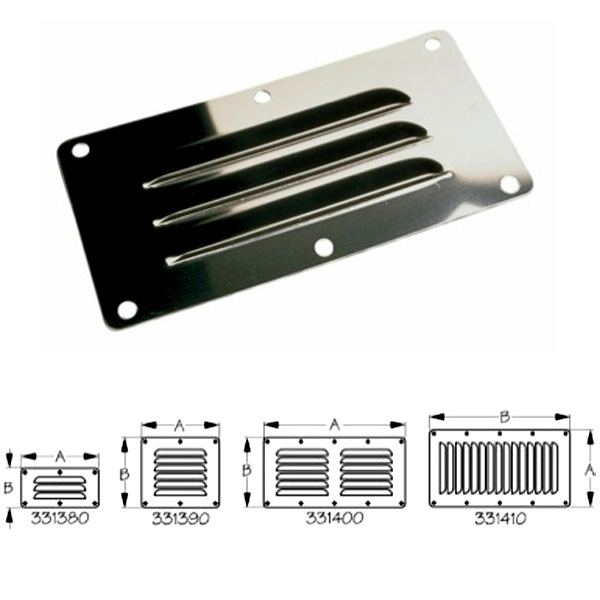 Sea-Dog Stainless Steel Flat Louvered Vents