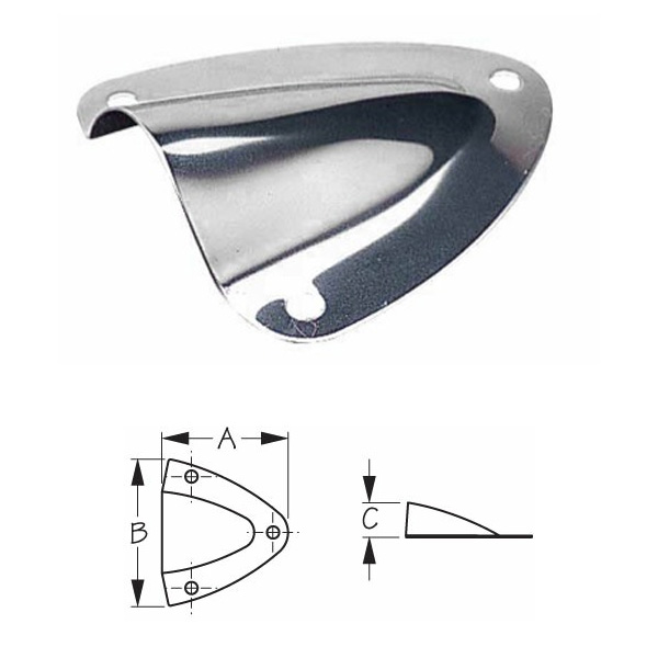 Sea-Dog Stainless Steel Midget Clam Shell Vents
