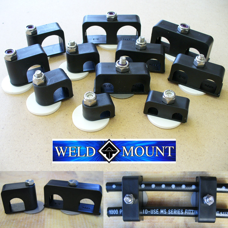 Weld Mount Hose and Cable Clamps