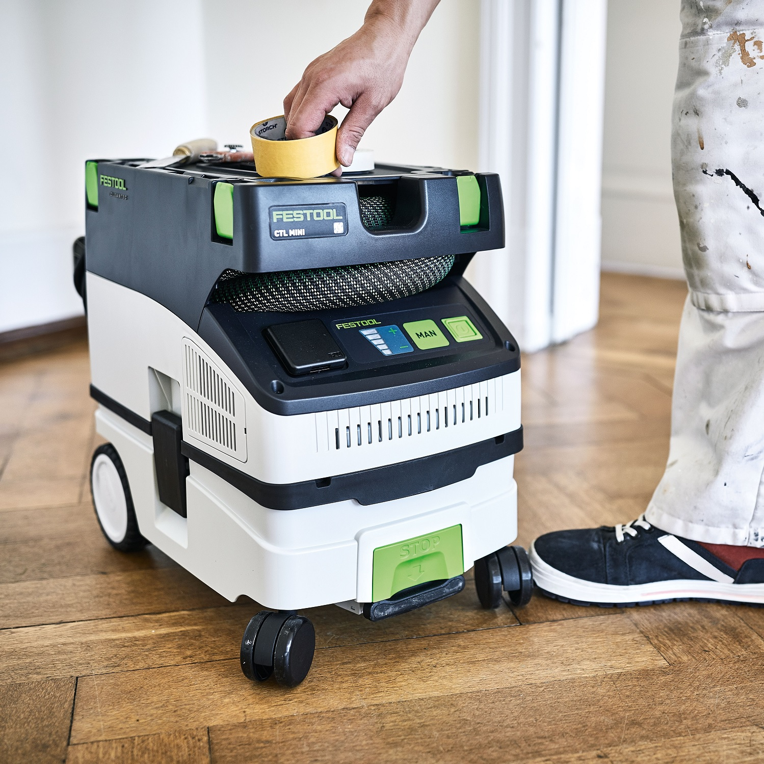 Festool dust extractors new design with bluetooth remote controls