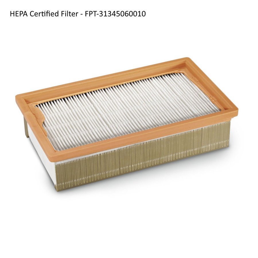 Fein Turbo I & II Vacuum Flat Filters (2014-up) - HEPA-Certified Filter