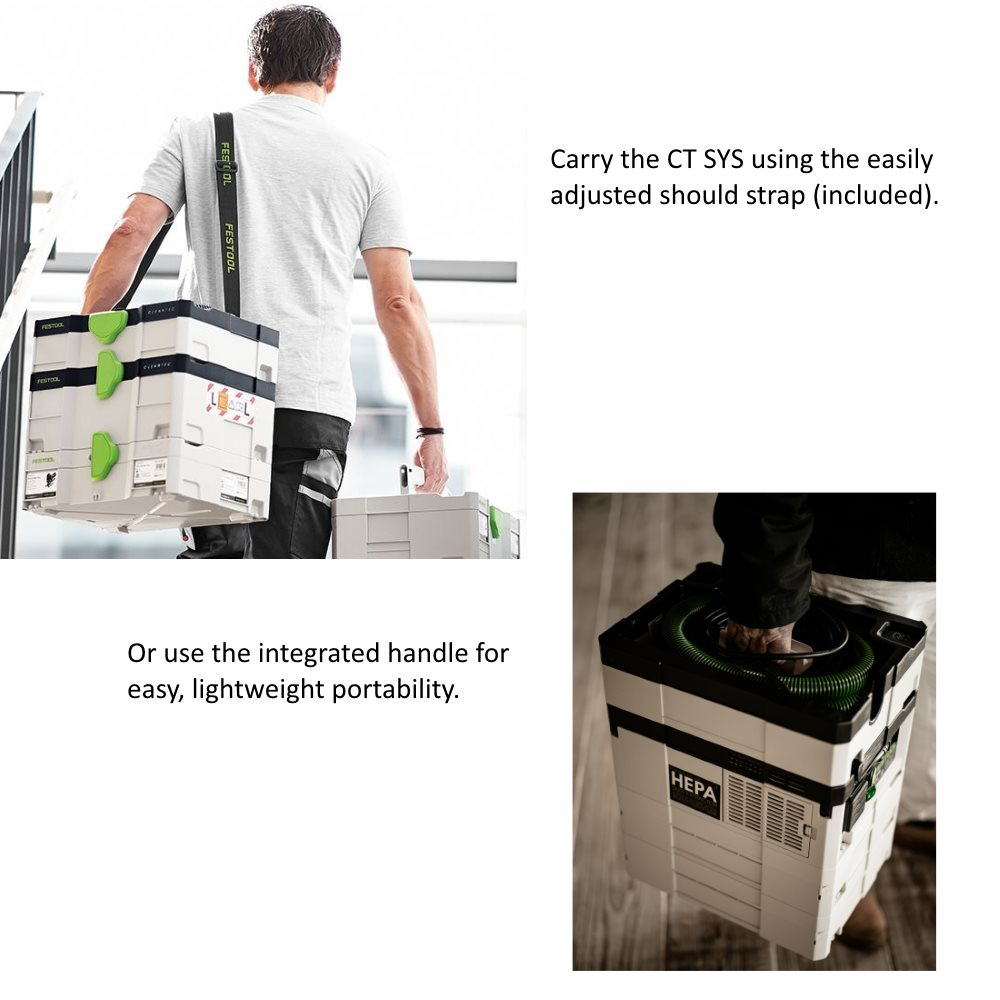Festool Dust Extractor Carrying Options