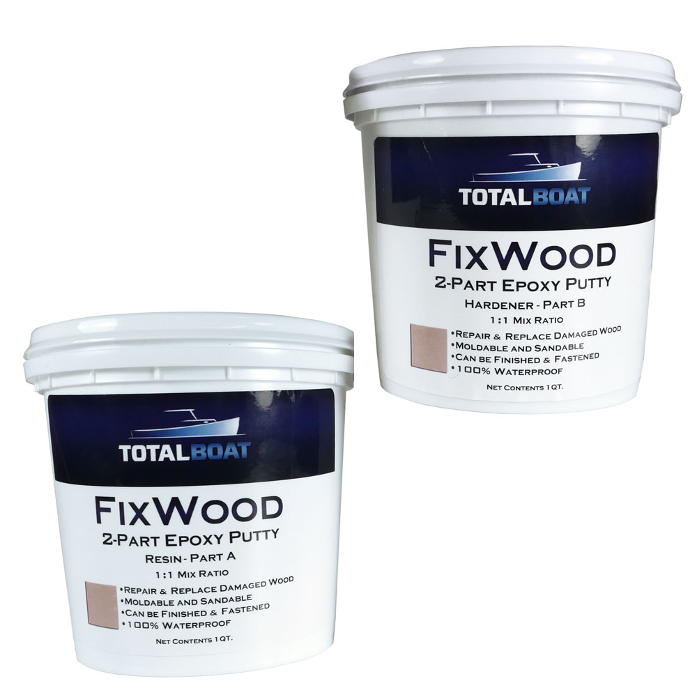 TotalBoat FixWood Wood Repair Epoxy Putty System Three Sculpwood Replacement