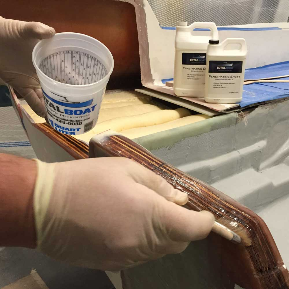 TotalBoat Penetrating Epoxy Gallon Kit In Use