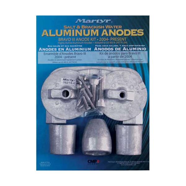 Martyr Anodes - Bravo III Aluminum Anode Kit