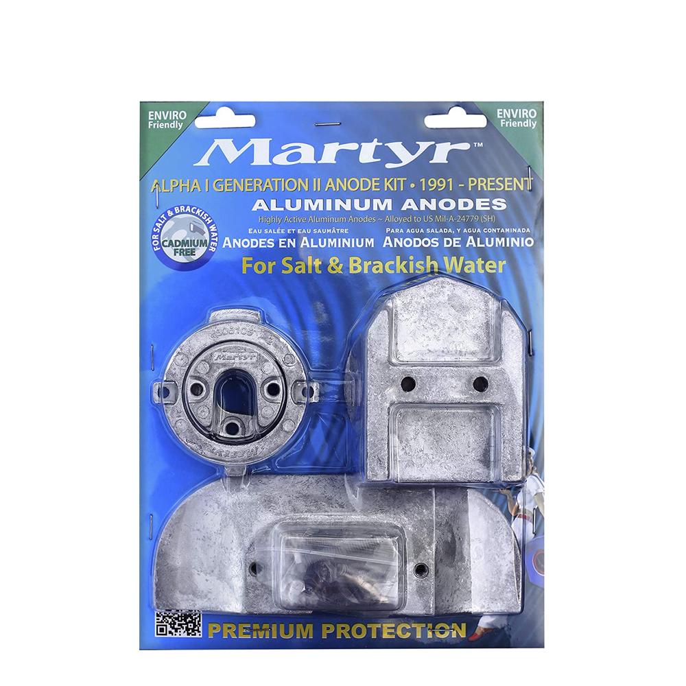 Martyr Mercruiser Alpha 1 Zinc Anode Kits