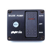 Rule 3-Way Panel Lighted Rocker Bilge Pump Switch