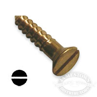 #5 Brass Wood Screws Flat Head Slotted