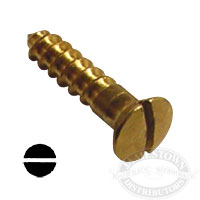 #6 Brass Wood Screws Oval Head Slotted