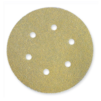 Norton - Gold 290 Discs - Hook and Loop - 6 inch x 6 Holes