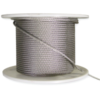 stainless steel halyard wire, 7 x 19 s/s cable