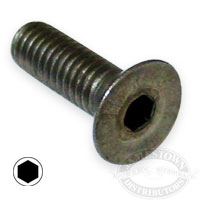 6mm S/S Set Cap Screws Flat Head Slotted