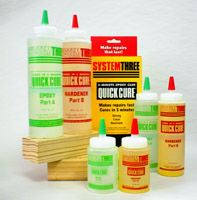 System Three Quick Cure Epoxy, 2 part epoxy adhesive