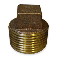 Square Head Plug Fittings - Bronze, NPT