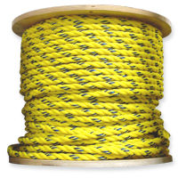 yellow polypropylene rope