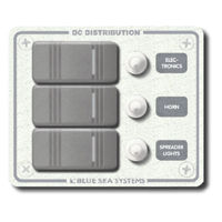 3 Position Waterproof Distribution Panel, circuit breaker