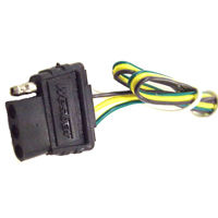 Wesbar - 4-Way Electric Wire Harness Connector - Trunk End