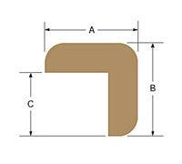 Teak  L Corner Molding