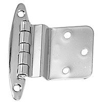 Inset Hinges, stamped brass chrome inset hinge
