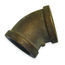 45 Degree Elbow Fittings - Bronze, NPT