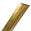 Brass Solid Back Half Oval Trim, marine hardware