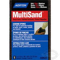 Norton MultiSand 4 in x 2-3/4 x 1/2 in Sponge