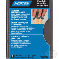 Norton Flexible 3 in x 4 x 1/2 in Sponges