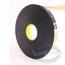 3M Double Coated Polyethylene Foam Tape - black