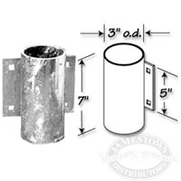 Dock Hardware Galvanized Outside Pipe Holder