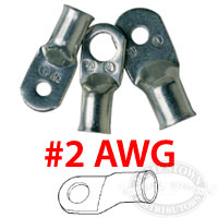 Ancor Marine Grade Duty 2 AWG Battery Cable Lugs