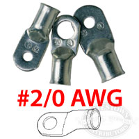 Ancor Marine Grade 2/0 AWG Battery Cable Lugs