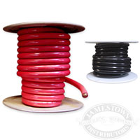 1/0 Gauge Marine Tinned Battery Cable - (Red and Black)