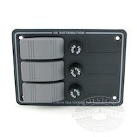 3 Position 12 Volt DC Waterproof Fuse Panel by Blue Sea Systems
