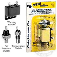 engine oil pressure and coolant temperature warning buzzer