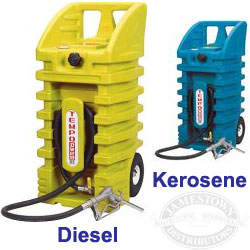 Moeller Diesel & Kerosene Walker Wheeled Transport Tanks