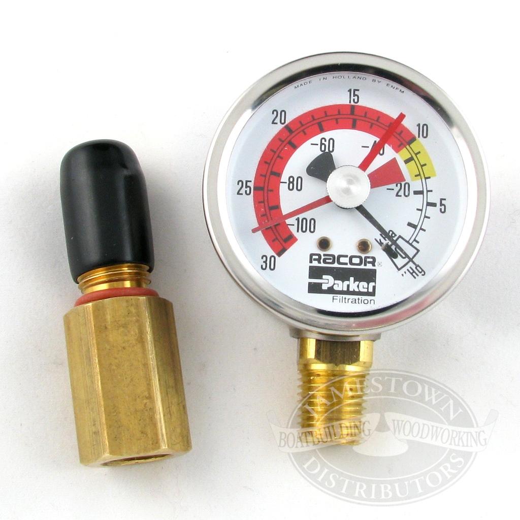 Racor T-Handle Vacuum Gauge Kit