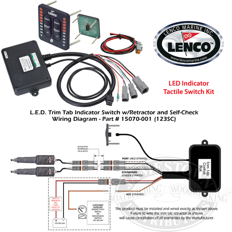 len 63560 2 lenco waterproof trim tab led indicator switch kits lenco wiring diagram at mifinder.co