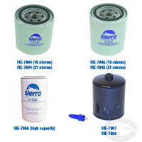 Sierra Gasoline Fuel Water Separator Spin-On Filter Elements