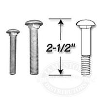 Tie Down Standard Grade Carriage Bolts