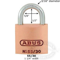 Abus Solid Brass Padlocks
