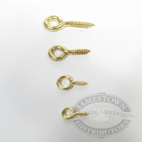 Brass Screw Eyes - Small