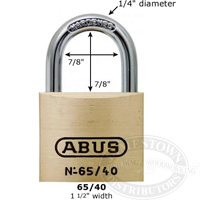 Abus Padlock made of brass for durability and corrosion resistance
