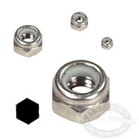 Chrome S/S Nylon Lock Nuts