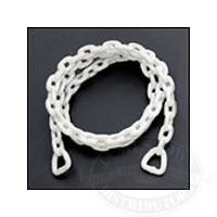 Acco White Polymer Coated Anchor Lead Chain