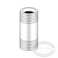 Midland Metal 1 inch Brass Nipple, NPT
