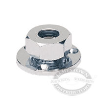 Hella Chrome Plated Brass Deck Gland