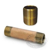 3/4 inch Nipples - Red Brass, NPT