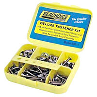 Deluxe Fastener Kit, stainless steel screw, nut and washer kit