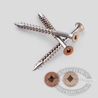 S/S Painted Wood Screws Bugle Head Square Drive